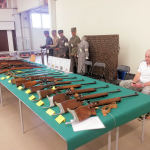 "collections of guns, used by ""suojeluskunta"" (civil guard)"